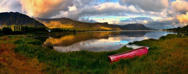 Meðalfellsvatn Lake Panorama, Iceland