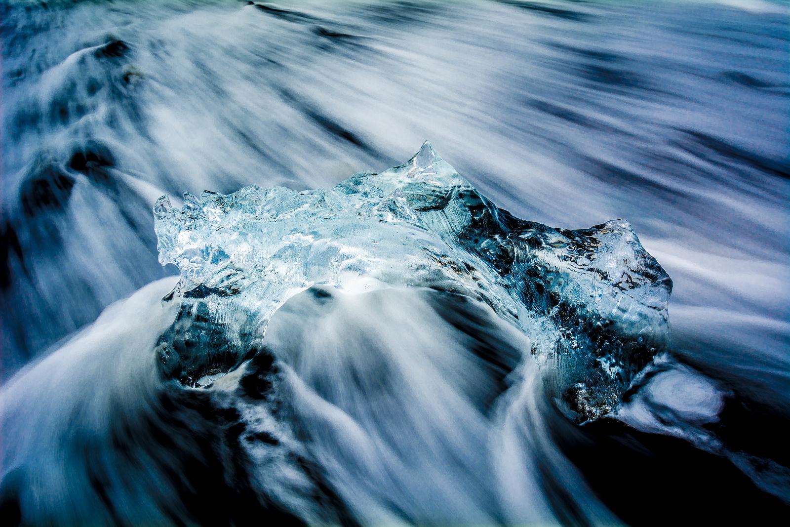 Ice Flow - Jökulsárlón Glacial Lagoon, Iceland