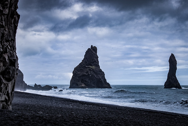 Drama at Reynisfjara Beach, Iceland