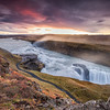 Iceland - Gullfoss Waterfall Sunrise