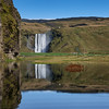 Iceland - skogafoss reflection