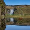 Iceland - skogafoss reflection
