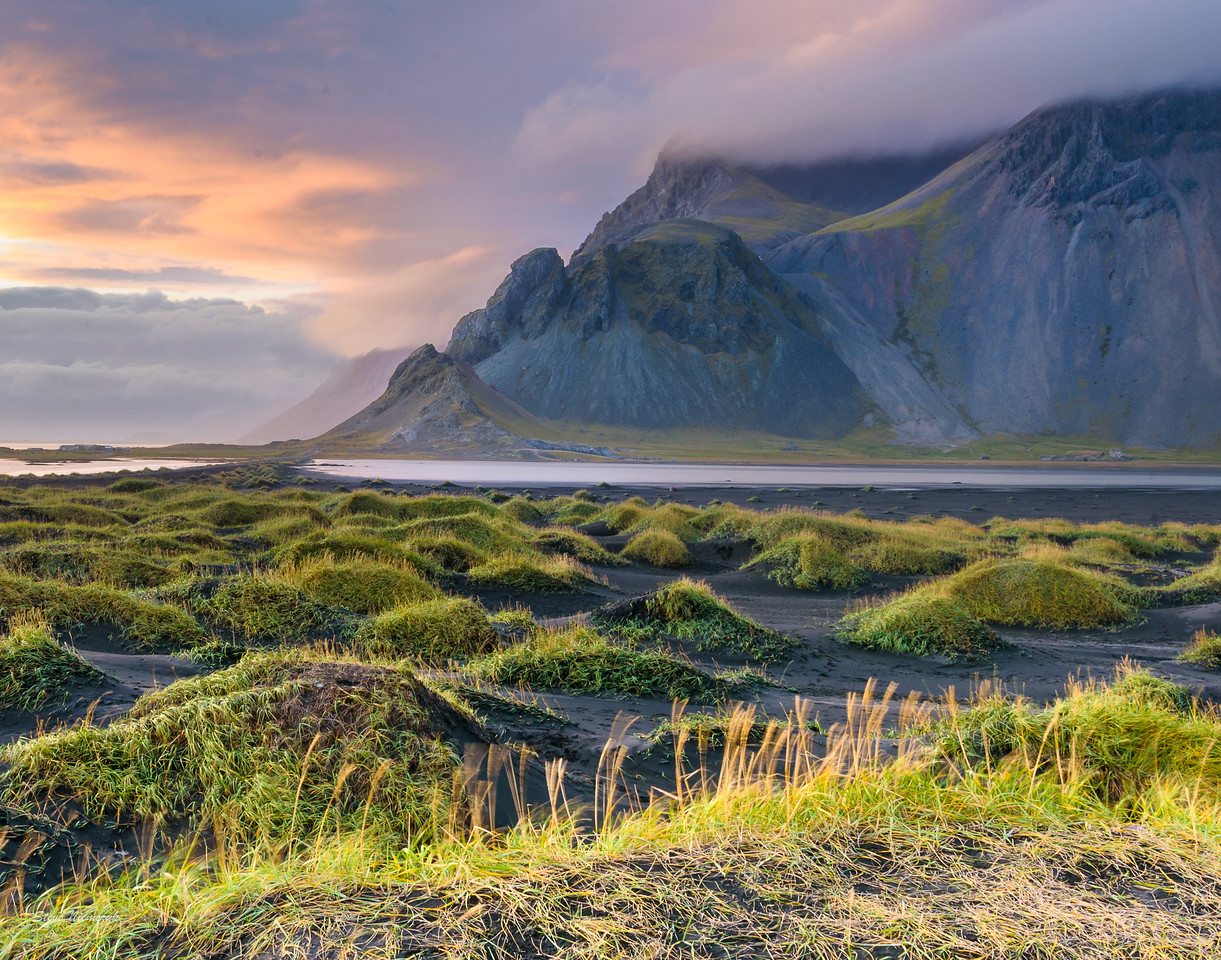 Sunset at Stokksnes, Vestrahorn