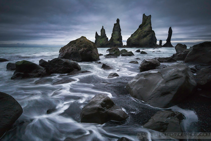Viking Sentinals - Reynisdrangar - Sea Stacks near Vik, Iceland