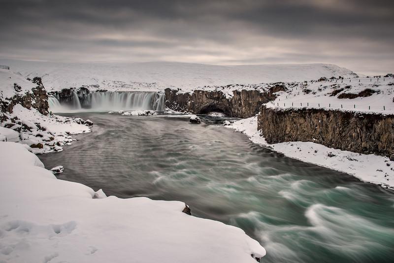 Falls and river at Godafoss