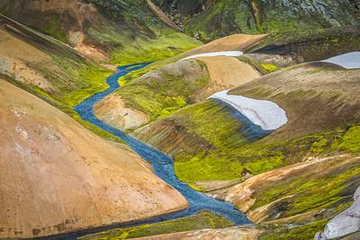 Markarfljot River from Obsidian Hill