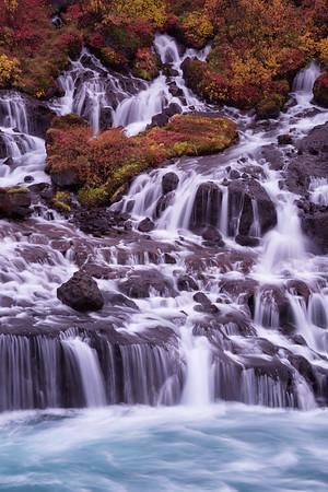 Hraunfosser Waterfall