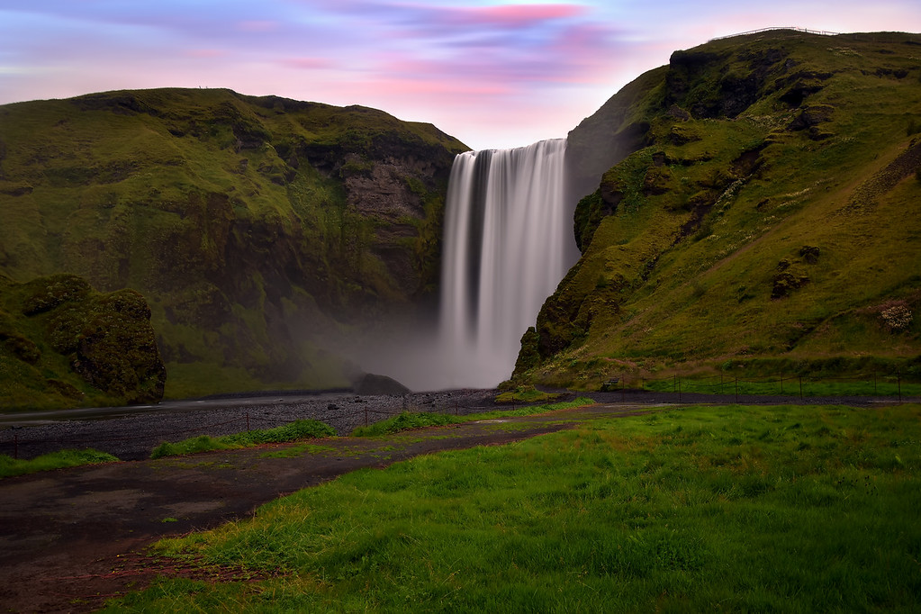 Long Exposure shot of Skógarfoss