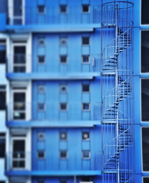 Spiral Staircase in Reykjavik. 2017.