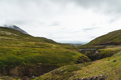 Abandoned Bridge in Northern Iceland on a Cloudy Day