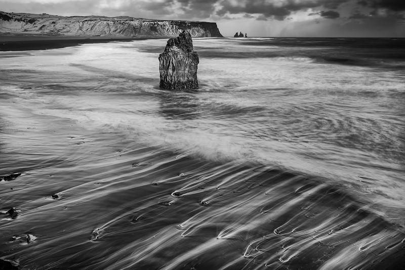 Basalt stack, Reynisfjara beach