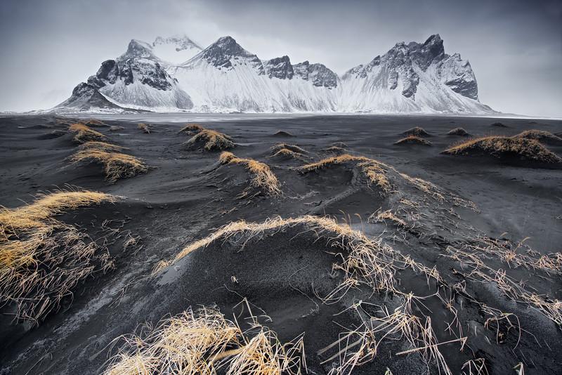 Vestrahorn sands and peaks