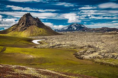 Krakatindur Mountain, Hekla Volcano & Lava Flow