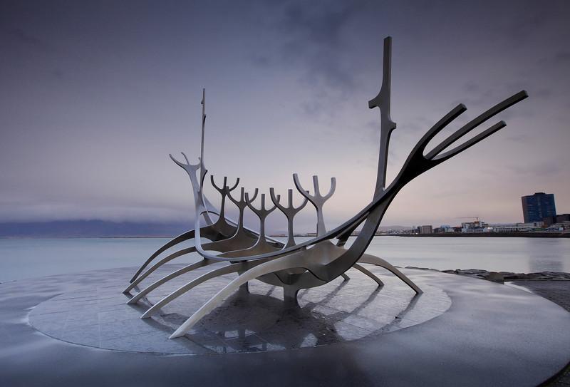 Iceland - reykjavik - Viking ship