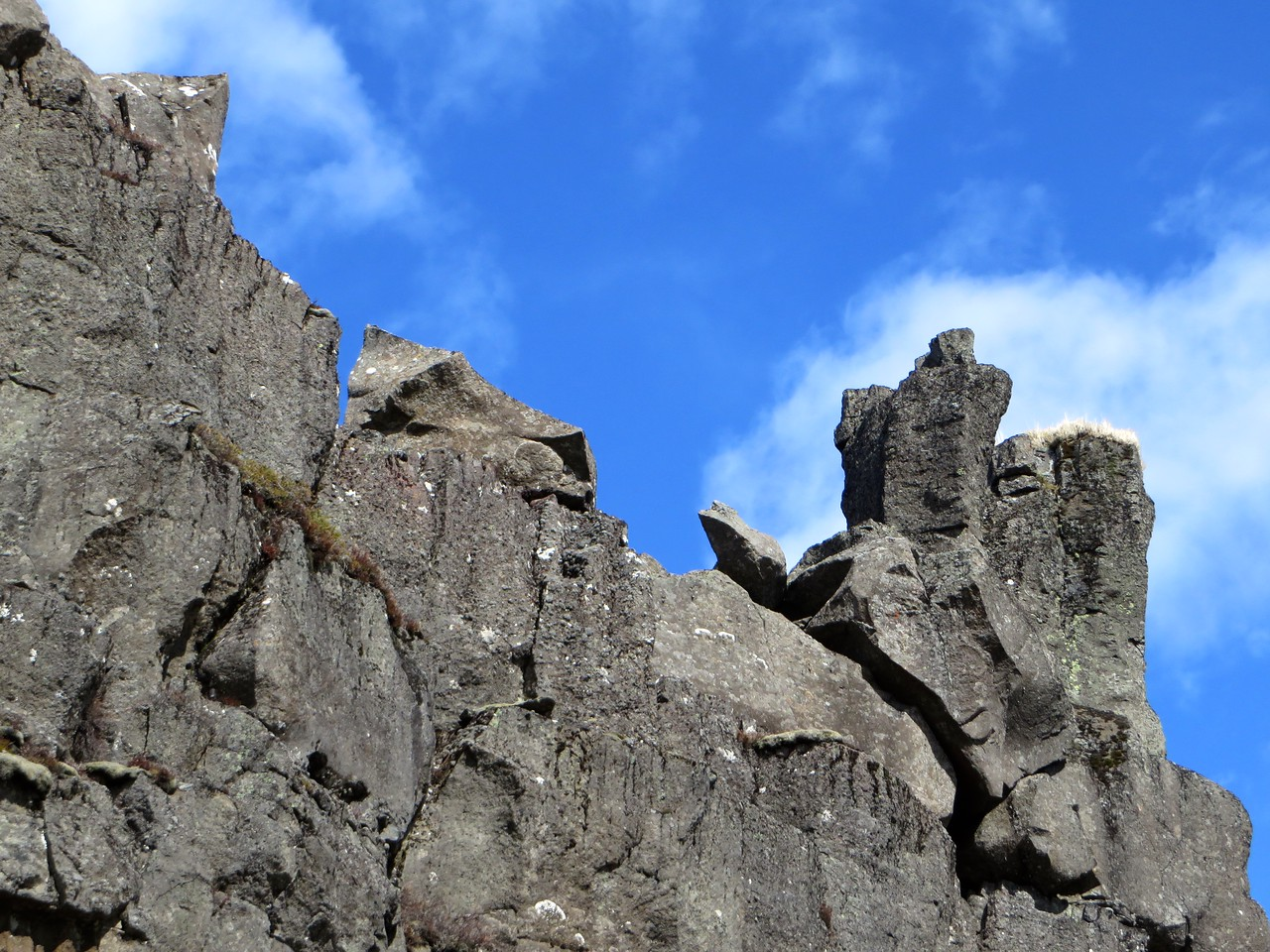 Alpingi Canyon where the 2 tectonic plates meet