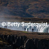 Tourists and Giant Waterfall