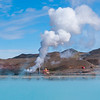 Geothermal power station near Lake Myvatn, Iceland.