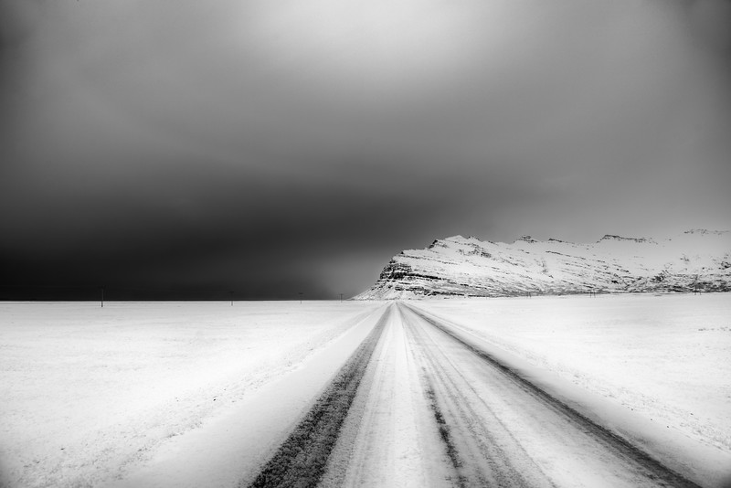 Icelandic winter road