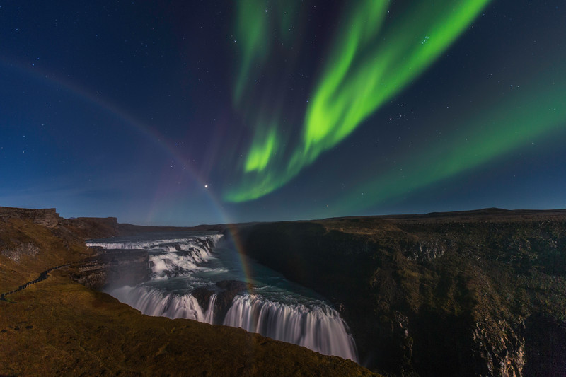 A Story of a Rainbow and Aurora