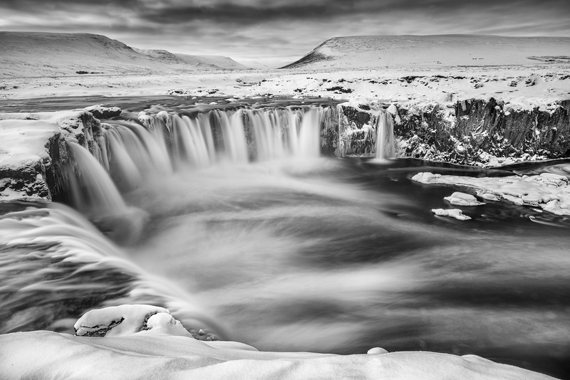 The falls at Godafoss, Iceland