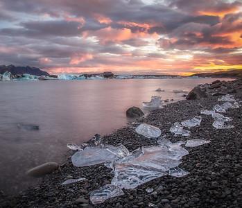 Jokusarlon glacial lagoon