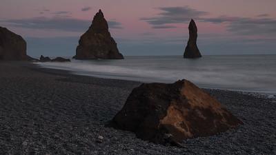 Sunset on Black Beach