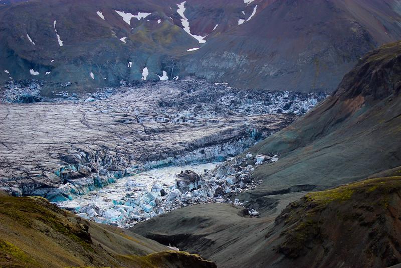 Crunching glaciers.
