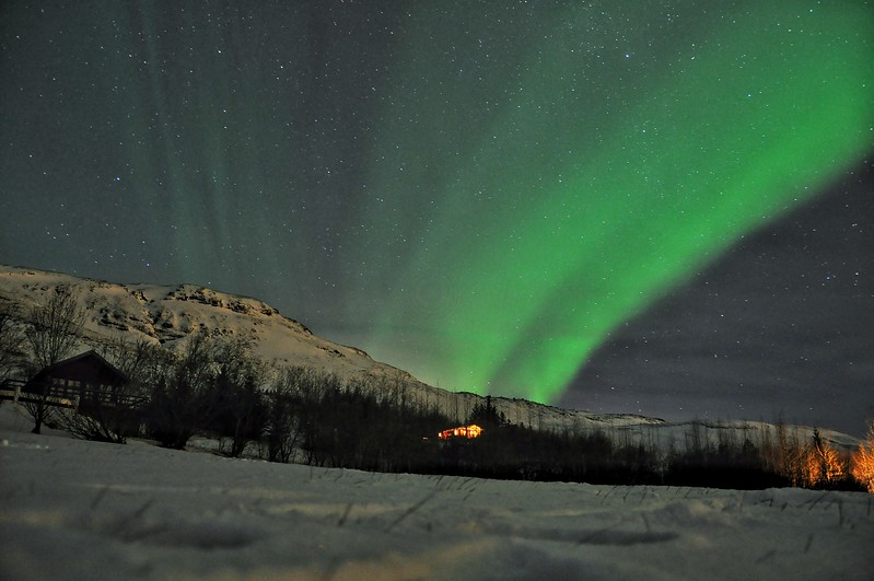 Northern Lights in Bláskógabyggð. 2016.