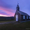 Sunrise near black church