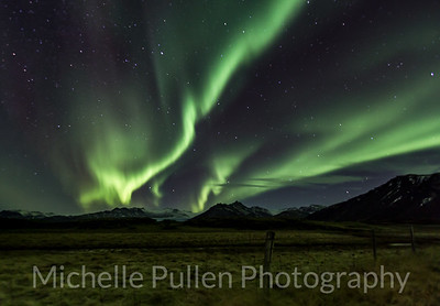 Aurora Over Mountains