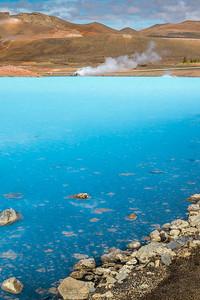 Turquoise Lake - Mývatn, Iceland