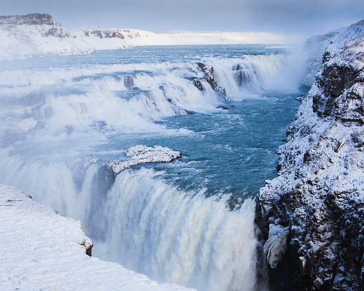 Gullfoss in Snow