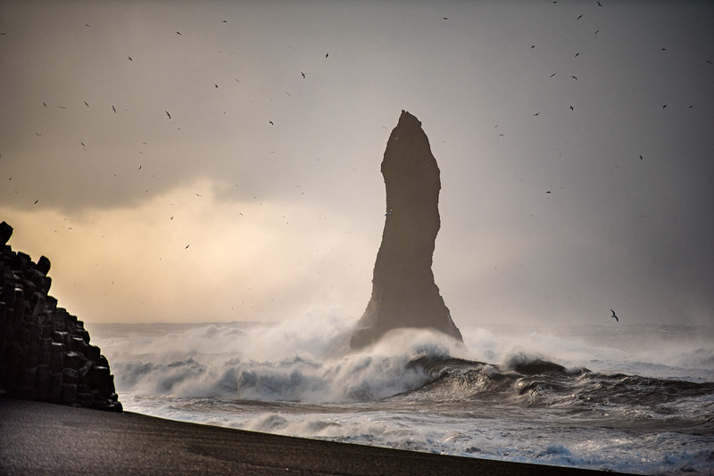 Reynifjara stack and waves