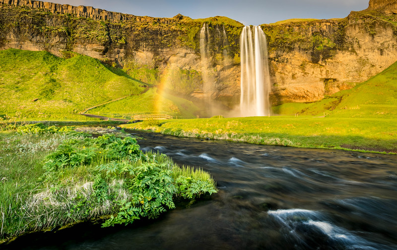 Hint of a Rainbow - Seljalandsfoss, Iceland