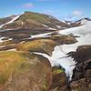 Snow spot human way down below