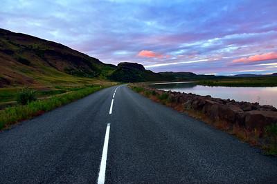 Icelandic rural road, Iceland