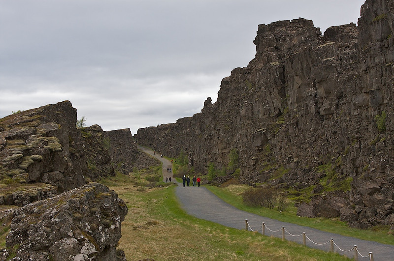 The Althing at Pingvellir a well sheltered area where the leaders would gather yearly.