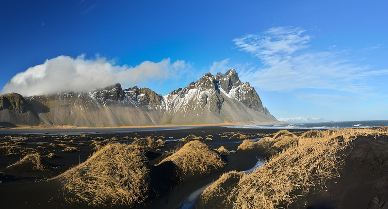 Black sand dunes at Stokksnes, east of Hofn