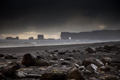 Storms over Dyrhólaey