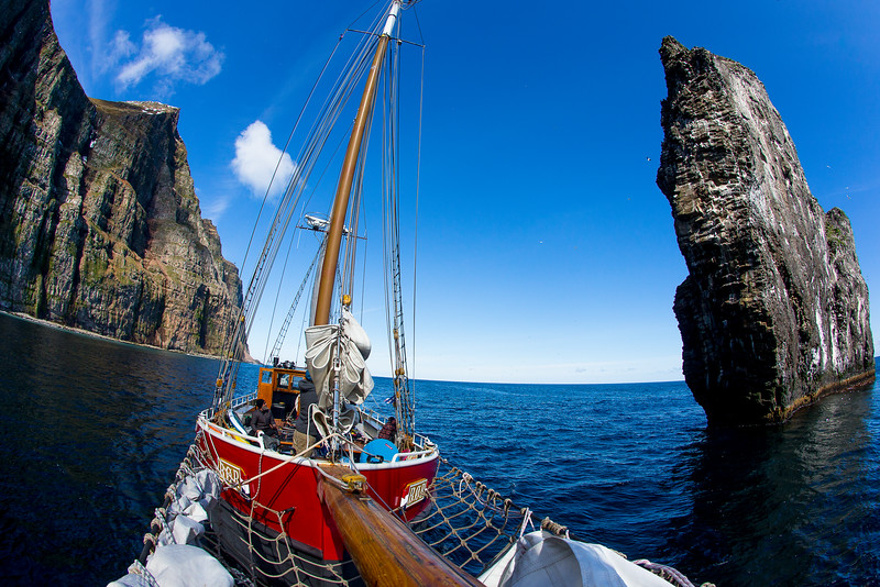 sailing around the west fjords Iceland