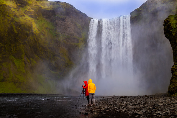 Adding primary colours, Skogafoss, Iceland