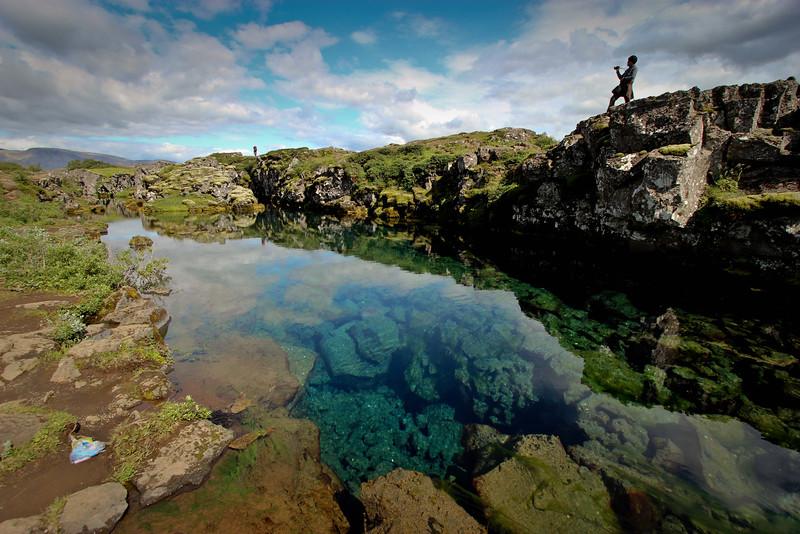 Crystal pools of reflection at Thingvellir