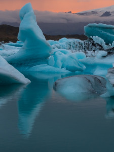 Iceberg; Blue Ice - Early Sunset