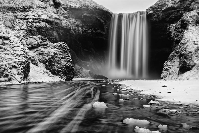 The waterfall at Skogafoss