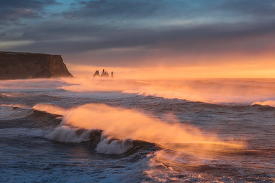 Reynisfjara at Sunset