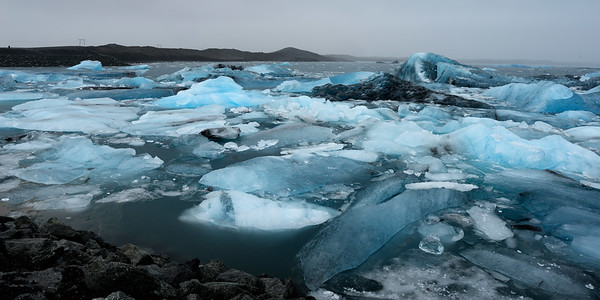 Floating ice in lagoon