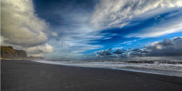 Black Sand Beach of VIK - wide angle