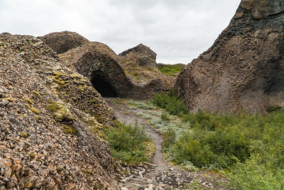 Ancient Lava Flows in Northern Iceland