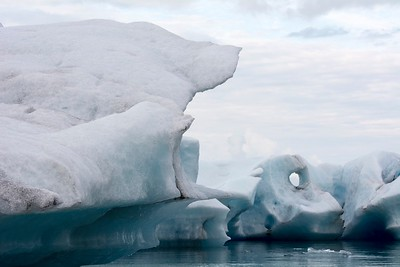 Jokulsarrion Glacial Lagoon, floating icebergs, East Iceland