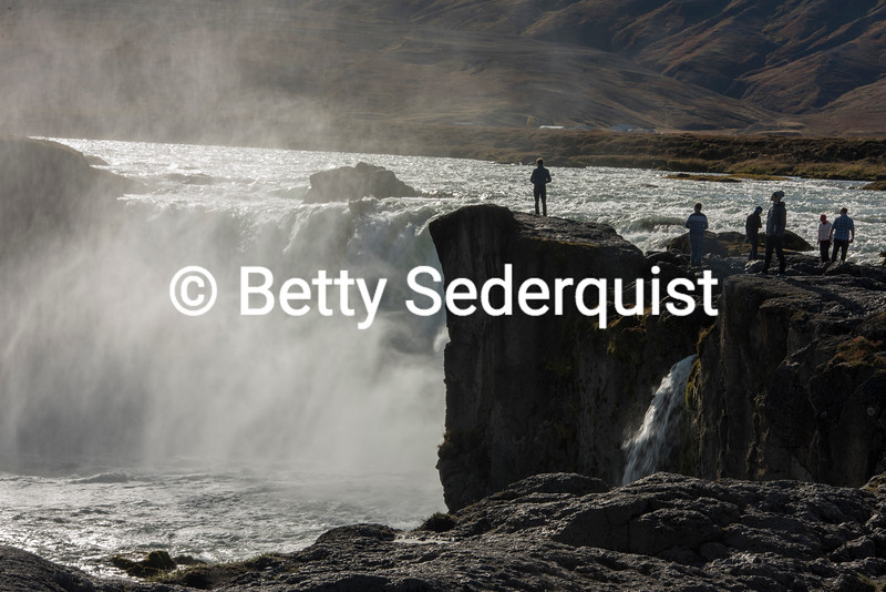 Big Waterfall in Northern Iceland
